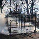 В Днепропетровской области горел детский аттракцион, — ФОТО