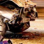 На Набережной Победы в Днепре автомобиль сбил рабочего и перевернулся, — ВИДЕО, ФОТО
