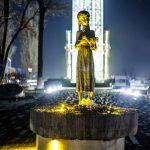 Вандали намагалися зруйнувати скульптуру «Гірка пам'ять дитинства» перед музеєм Голодомору в Києві