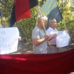 На в'їзді до Шумів люди вийшли на пікет проти спільного з бойовиками інспектування