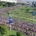 «Марш героїв»: щонайменше 100 тисяч людей вийшли на протест у Мінську (відео)