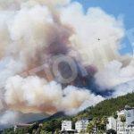 Туристам на заметку! На турецком курорте бушуют лесные пожары