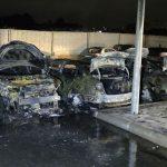 На Київщині згоріли п'ять автомобілів, поліція відкрила справу