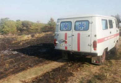 Пожар на кладбище в Волосском: погибла женщина
