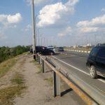 В Днепре с Кайдакского моста слетел джип: пострадал водитель, — ФОТО, ВИДЕО