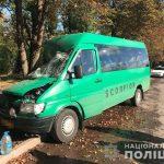 В Днепропетровской области маршрутка врезалась в дерево: 11 пострадавших, — ФОТО